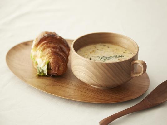お手入れ要らずの木製スープカップにくるみが新登場