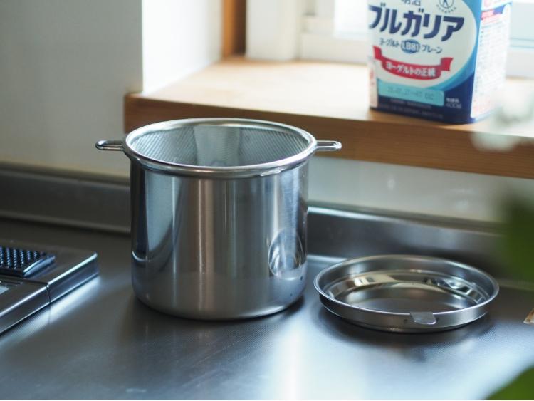 水切りヨーグルト、道具ひとつでストレスフリー